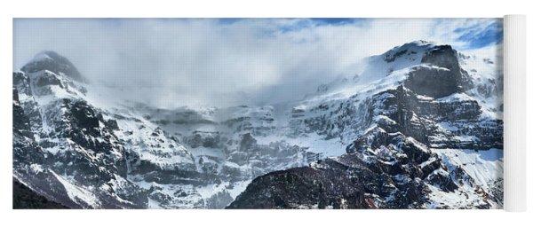The Black Snowdrift Glacier Yoga Mat