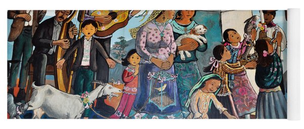 The Blessing Of Animals Olvera Street Yoga Mat