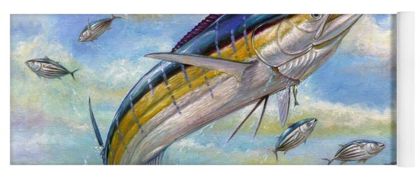 The Blue Marlin Leaping To Eat Yoga Mat