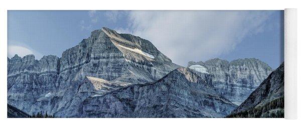 The Blue Mountains Of Glacier National Park Yoga Mat