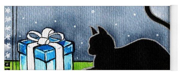 The Box Is Mine - Christmas Cat Yoga Mat