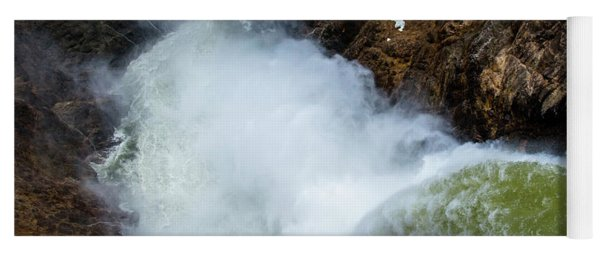 The Brink Of The Lower Falls Of The Yellowstone River Yoga Mat