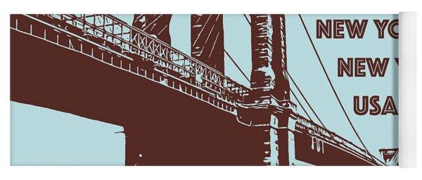The Brooklyn Bridge, New York, Ny Yoga Mat