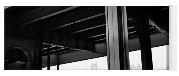 The Brooklyng Bridge And Manhattan Bridge From Fdr Drive Yoga Mat