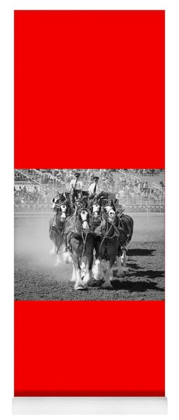 The Budweiser Clydesdales Yoga Mat