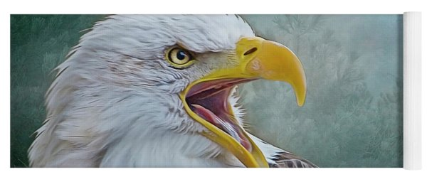 The Call Of The Eagle Yoga Mat