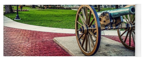 Yoga Mat featuring the photograph The Cannon In The Park by Kendall McKernon