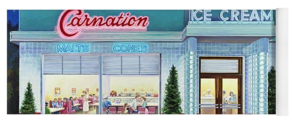 The Carnation Ice Cream Shop Yoga Mat