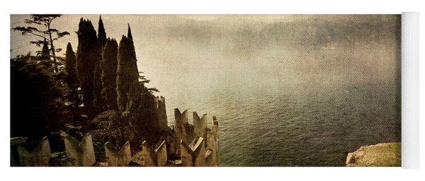 The Castle On The Lake. Malcesine Yoga Mat