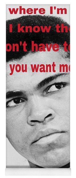 The Champ Muhammad Ali  Yoga Mat