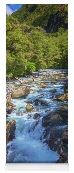 The Chasm Southland New Zealand Yoga Mat
