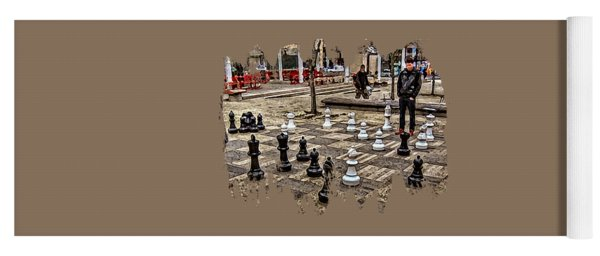 The Chess Match In Portland Yoga Mat
