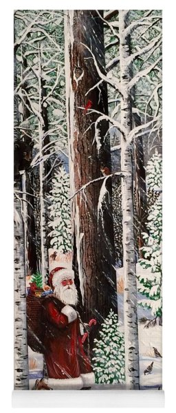 The Christmas Forest Visitor Yoga Mat