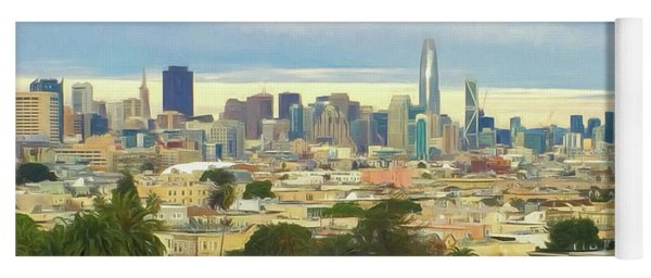 The City From Dolores Park Yoga Mat
