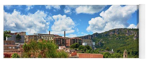 Yoga Mat featuring the photograph The City Of Tarragona And A Beautiful Sky by Eduardo Jose Accorinti