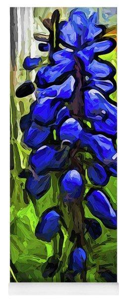 The Cobalt Blue Flowers And The Long Green Grass Yoga Mat