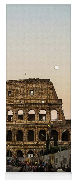 The Coliseum And The Full Moon Yoga Mat
