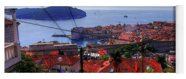 The Colourful City Of Dubrovnik Yoga Mat