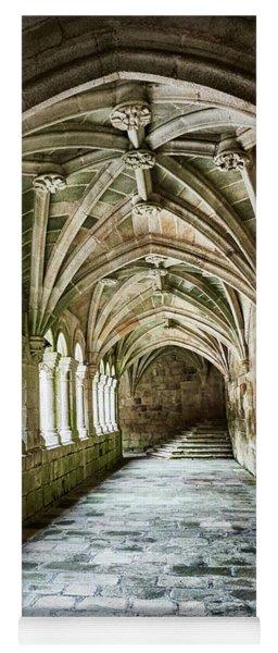 Yoga Mat featuring the photograph The Corridors Of The Monastery by Eduardo Jose Accorinti