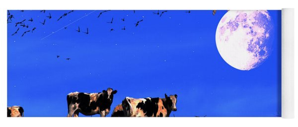 The Cow Jumped Over The Moon Yoga Mat
