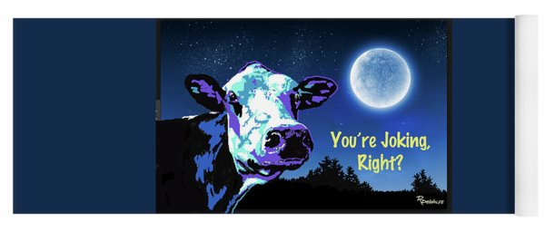 The Cow Jumps Over The Moon Yoga Mat