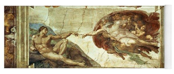 The Creation Of Adam Yoga Mat