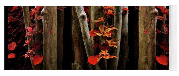The Crimson Forest Yoga Mat
