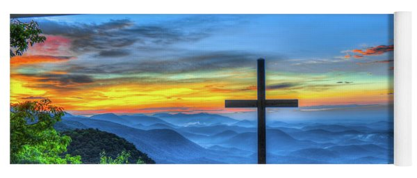 The Cross Sunrise At Pretty Place Chapel Yoga Mat