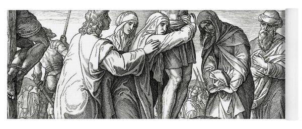 The Crucifixion Of Jesus On The Cross, Gospel Of John Yoga Mat