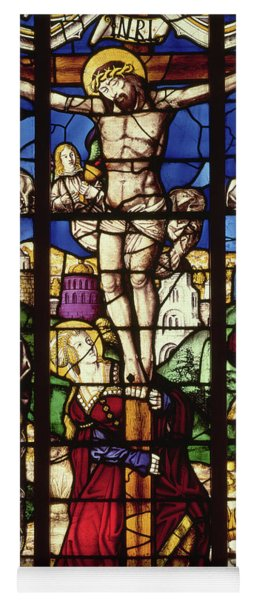 The Crucifixion, Stained Glass Window Yoga Mat