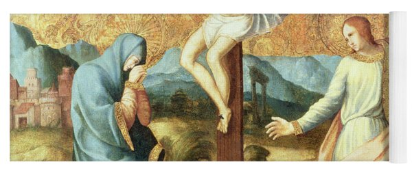 The Crucifixion With The Virgin And St John The Evangelist Yoga Mat