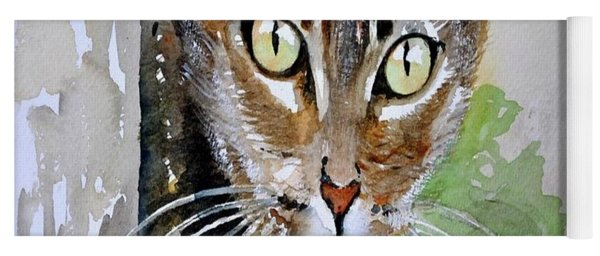 The Curious Tabby Cat Yoga Mat