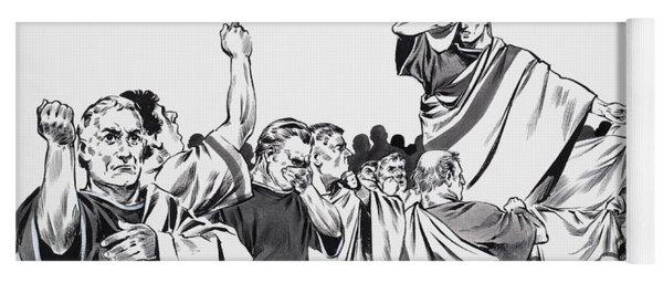 The Death Of Julius Caesar Yoga Mat