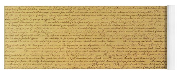 The Declaration Of Independence Yoga Mat