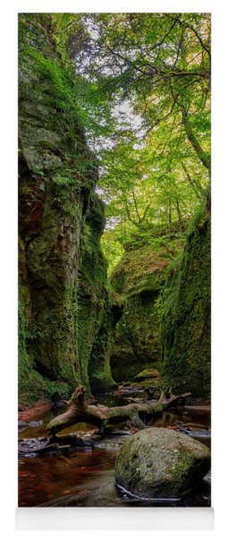 The Devil Pulpit At Finnich Glen Yoga Mat