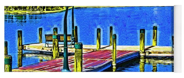 The Dock In Fauvism Yoga Mat