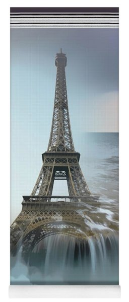 The Eiffel Tower In Montage Yoga Mat