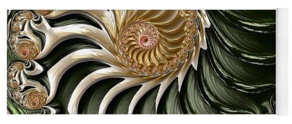 Yoga Mat featuring the digital art The Emerald Queen's Nautilus by Susan Maxwell Schmidt