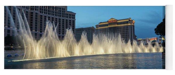 The Fabulous Fountains At Bellagio - Las Vegas Yoga Mat