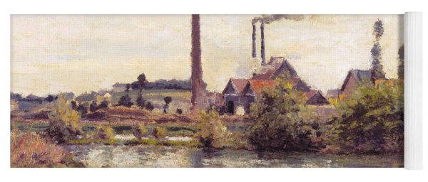 The Factory At Pontoise, 1873 Yoga Mat