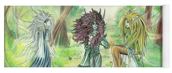 The Fae - Sylvan Creatures Of The Forest Yoga Mat