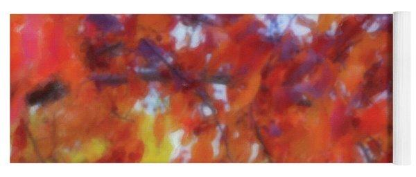 The Fall Branch Watercolor Yoga Mat