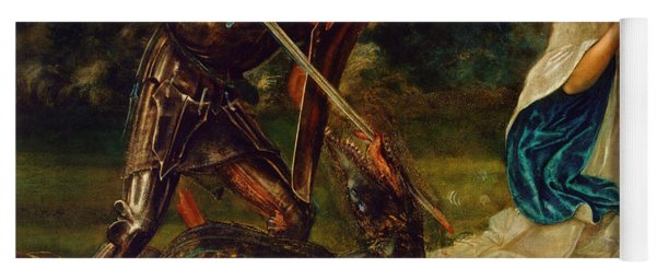 The Fight St George Kills The Dragon Vi Yoga Mat
