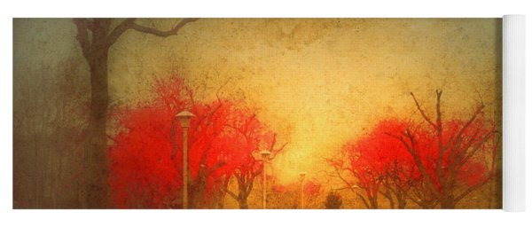 The Fire Trees Yoga Mat