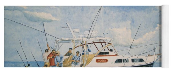 The Fishing Charter - Cape Cod Bay Yoga Mat