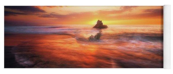 The Flaming Rock Yoga Mat