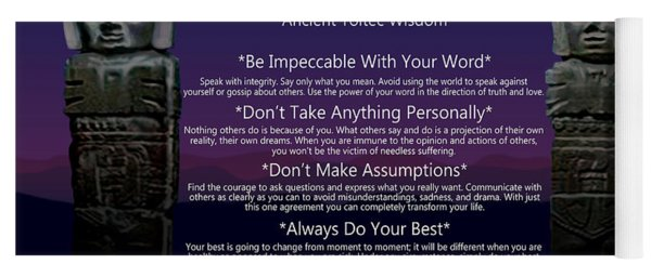 The Four Agreements Poster Yoga Mat