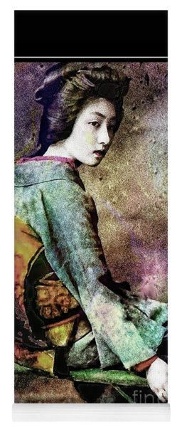 The Geisha Girl - Vintage Portrait Yoga Mat