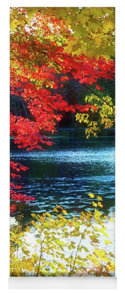 The Glory Of A New England Autumn Yoga Mat