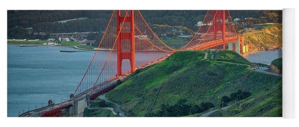 The Golden Gate At Sunset Yoga Mat